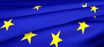 Bandierina dell'Ue Immagini Stock Libere da Diritti