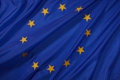 Bandierina dell'Ue Fotografia Stock Libera da Diritti