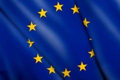 Bandierina dell'Ue Fotografie Stock Libere da Diritti