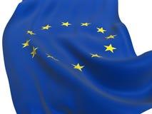Bandierina dell'Ue di Europa unita isolata Fotografie Stock