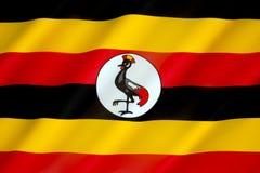 Bandierina dell'Uganda Immagini Stock Libere da Diritti