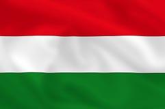 Bandierina dell'Ungheria illustrazione di stock