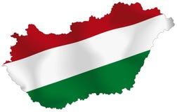 Bandierina dell'Ungheria Fotografie Stock Libere da Diritti