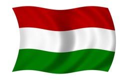 Bandierina dell'Ungheria Immagine Stock Libera da Diritti