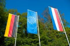 Bandierina dell'unione europea Fotografia Stock Libera da Diritti