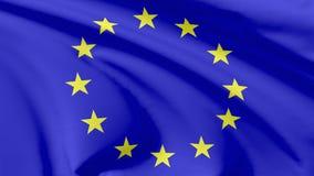 Bandierina dell'unione europea Immagini Stock
