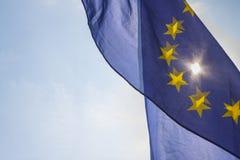 Bandierina dell'unione europea Immagine Stock