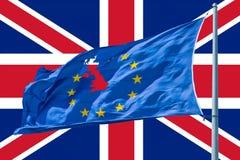 Bandierina dell'unione europea Brexit Immagini Stock Libere da Diritti