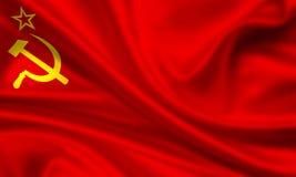 Bandierina dell'Unione Sovietica Fotografie Stock Libere da Diritti