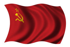 Bandierina dell'Unione Sovietica Fotografia Stock