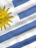 Bandierina dell'Uruguai illustrazione vettoriale