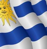 Bandierina dell'Uruguai Fotografie Stock Libere da Diritti