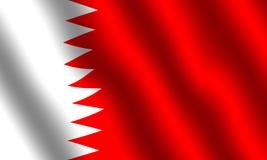 Bandierina della Bahrain Fotografia Stock
