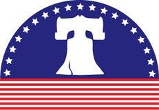 Bandierina della Bell di libertà Immagine Stock Libera da Diritti