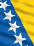 Bandierina della Bosnia & dell'Erzegovina Fotografia Stock Libera da Diritti