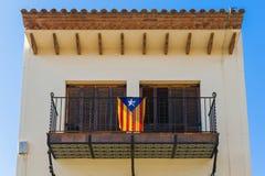 Bandierina della Catalogna Fotografia Stock
