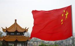 Bandierina della Cina Fotografie Stock Libere da Diritti