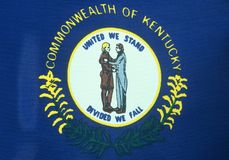 Bandierina della condizione del Kentucky Fotografia Stock Libera da Diritti