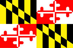 Bandierina della condizione del Maryland immagini stock libere da diritti
