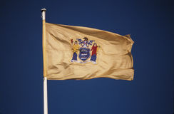 Bandierina della condizione del New Jersey Fotografia Stock Libera da Diritti