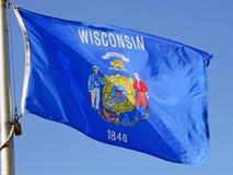 Bandierina della condizione del Wisconsin Immagine Stock Libera da Diritti