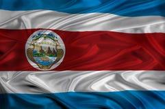 Bandierina della Costa Rica Immagini Stock Libere da Diritti