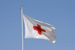 Bandierina della croce rossa Fotografia Stock