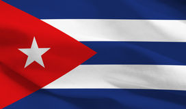 Bandierina della Cuba Fotografia Stock Libera da Diritti