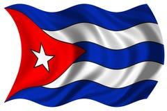 Bandierina della Cuba isolata Immagini Stock Libere da Diritti