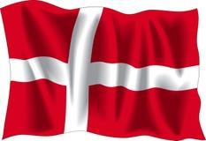 Bandierina della Danimarca illustrazione di stock