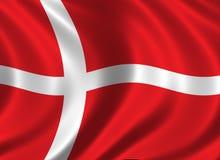 Bandierina della Danimarca Immagini Stock Libere da Diritti