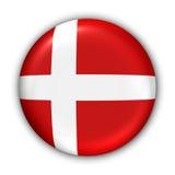 Bandierina della Danimarca Fotografia Stock Libera da Diritti