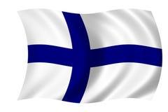 Bandierina della Finlandia Fotografie Stock