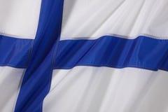 Bandierina della Finlandia Fotografie Stock Libere da Diritti