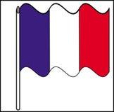 Bandierina della Francia Fotografia Stock Libera da Diritti