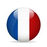 Bandierina della Francia Illustrazione di vettore Fotografie Stock