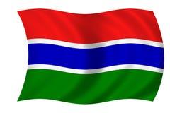 Bandierina della Gambia Fotografie Stock Libere da Diritti
