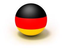 Bandierina della Germania sulla sfera Immagini Stock Libere da Diritti