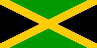 Bandierina della Giamaica Fotografia Stock Libera da Diritti
