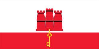 Bandierina della Gibilterra Immagini Stock