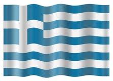 Bandierina della Grecia Fotografie Stock Libere da Diritti