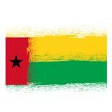 Bandierina della Guinea-Bissau Immagini Stock Libere da Diritti