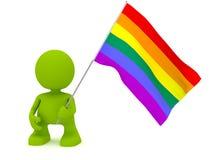Bandierina della holding LGBT Immagini Stock Libere da Diritti