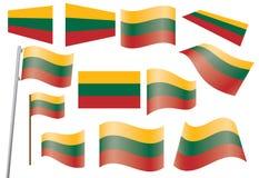 Bandierina della Lituania Fotografia Stock