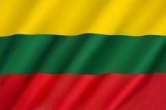 Bandierina della Lituania Immagine Stock Libera da Diritti