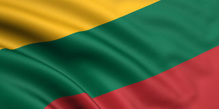 Bandierina della Lituania Immagini Stock Libere da Diritti