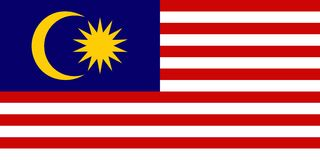 Bandierina della Malesia illustrazione di stock