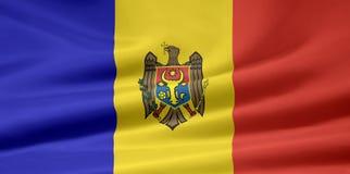 Bandierina della Moldavia Immagini Stock