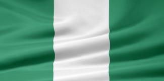 Bandierina della Nigeria Fotografie Stock Libere da Diritti