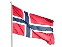 Bandierina della Norvegia Fotografia Stock